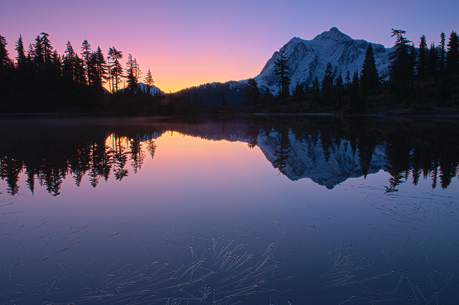 Sunrise at Mount Shuksan